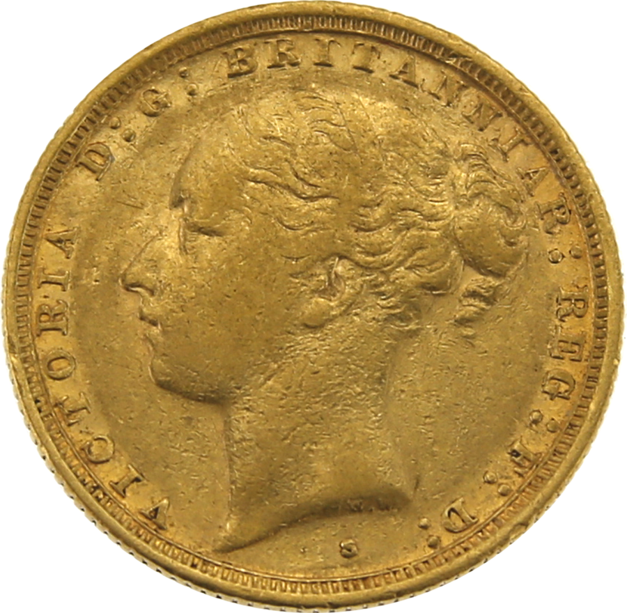Pre-Owned 1887 Sydney Mint Victoria Young Head Full Sovereign Gold Coin