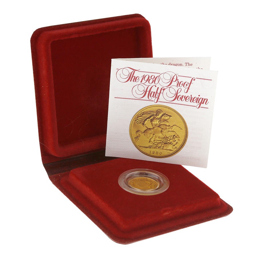 Pre-Owned 1980 UK Half Sovereign Gold Proof Coin