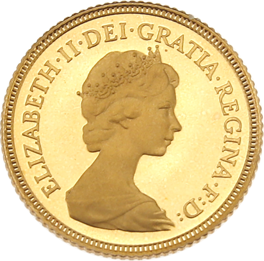 Pre-Owned 1980 UK Half Sovereign Gold Proof Coin (Image 3)