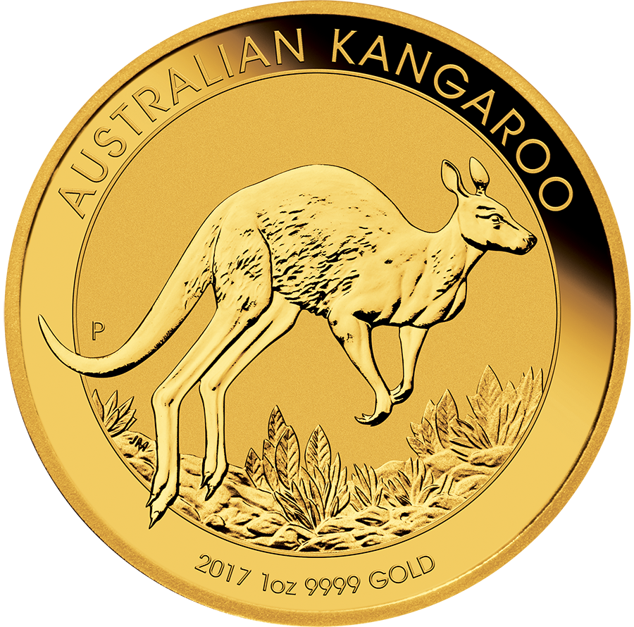 Pre-Owned 2017 Australian Kangaroo 1oz Gold Coin