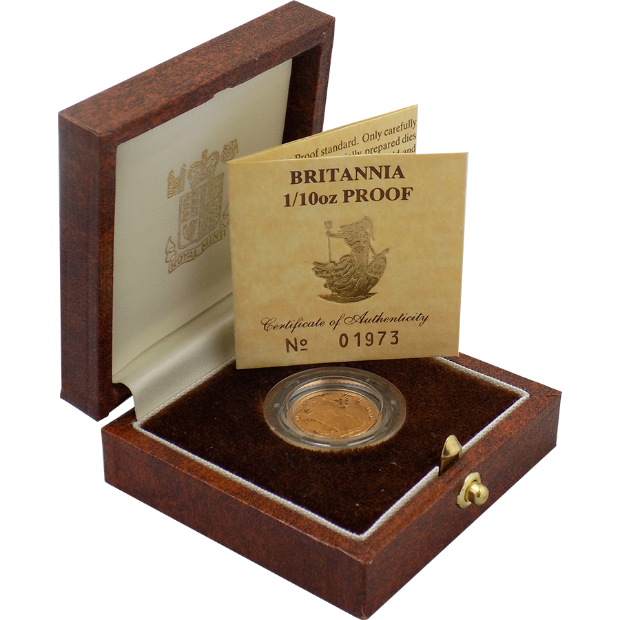 Pre-Owned 1987 UK Britannia 1/10oz Proof Gold Coin