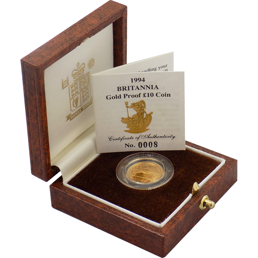 Pre-Owned 1994 UK Britannia 1/10oz Proof Gold Coin