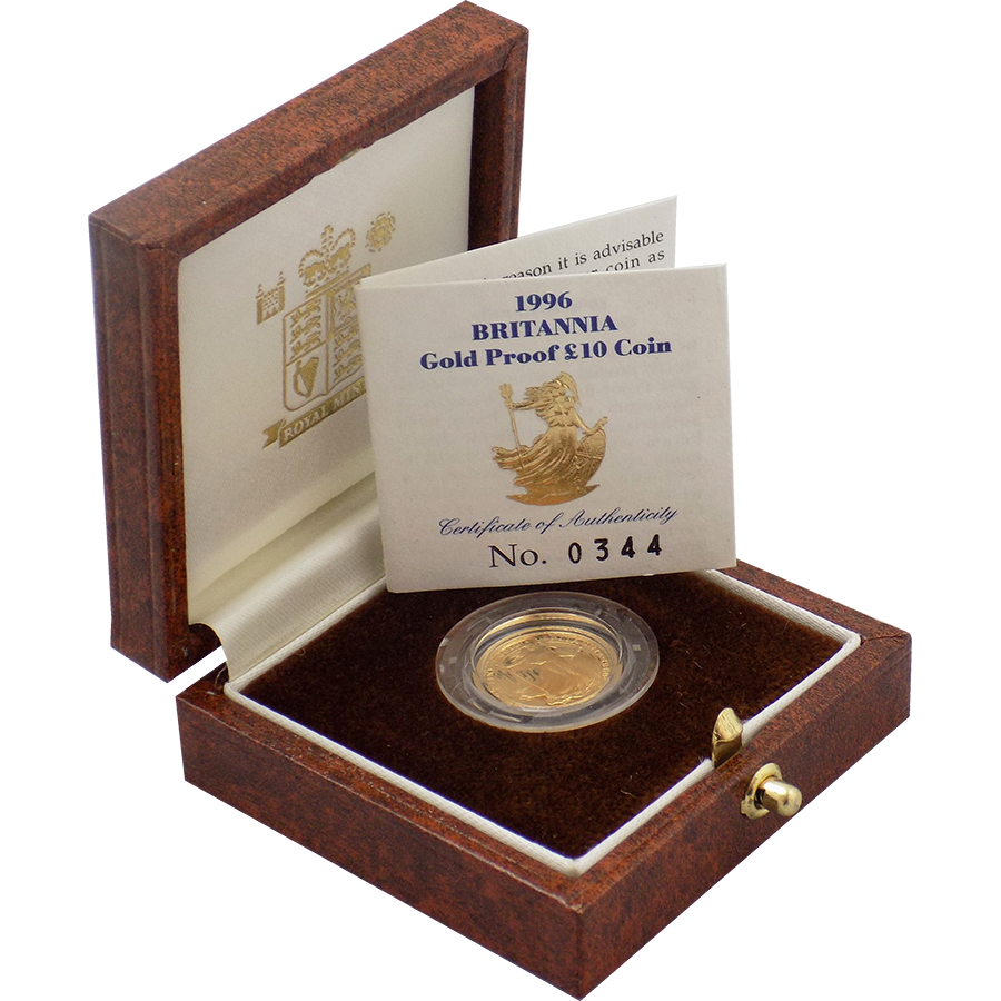 Pre-Owned 1996 UK Britannia 1/10oz Proof Gold Coin
