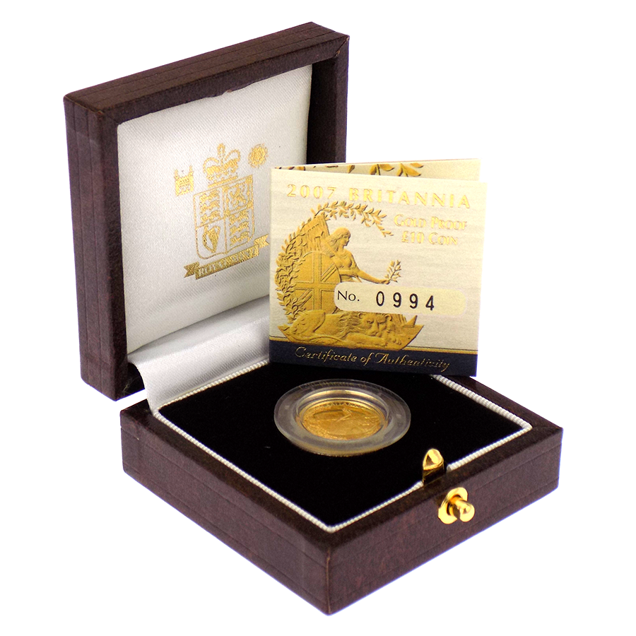 Pre-Owned 2007 UK Britannia 1/10oz Proof Gold Coin