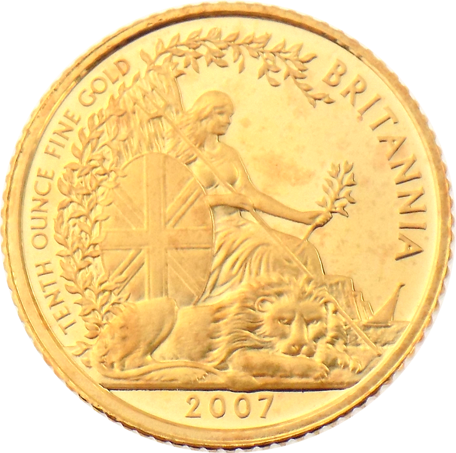 Pre-Owned 2007 UK Britannia 1/10oz Proof Gold Coin (Image 2)