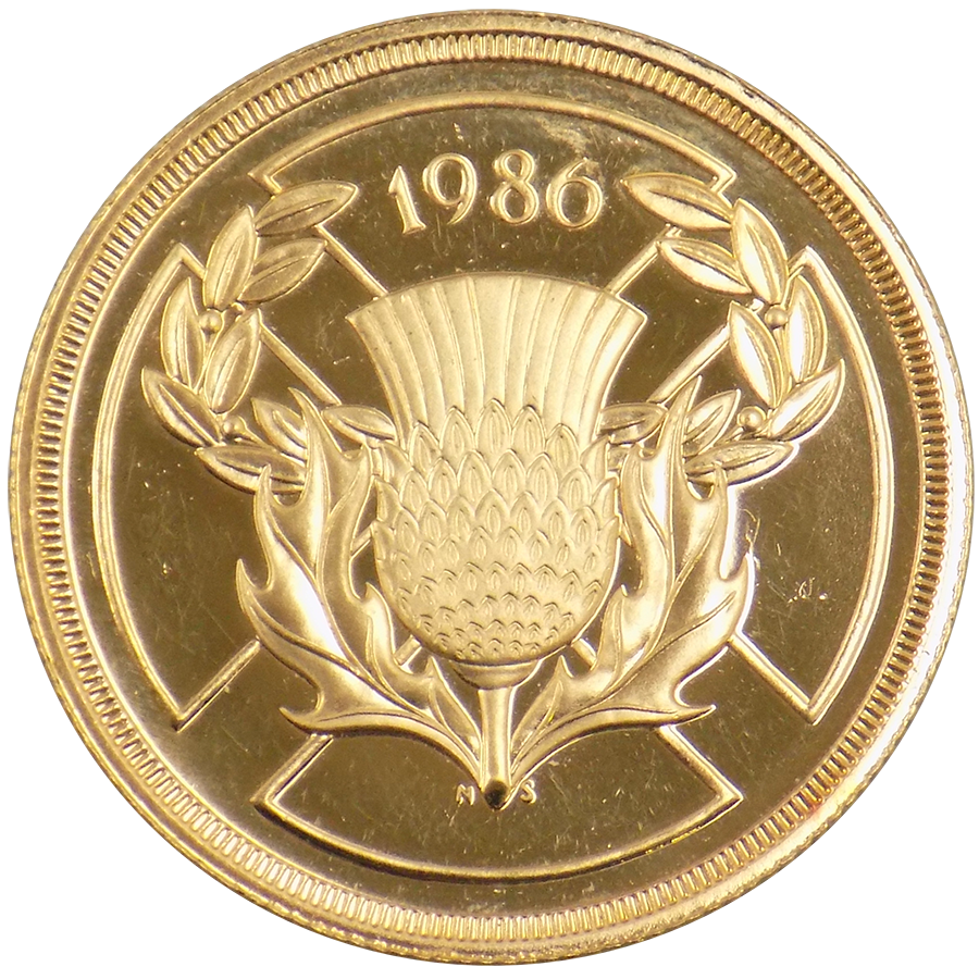 Pre-Owned 1986 UK Double Sovereign Gold Coin