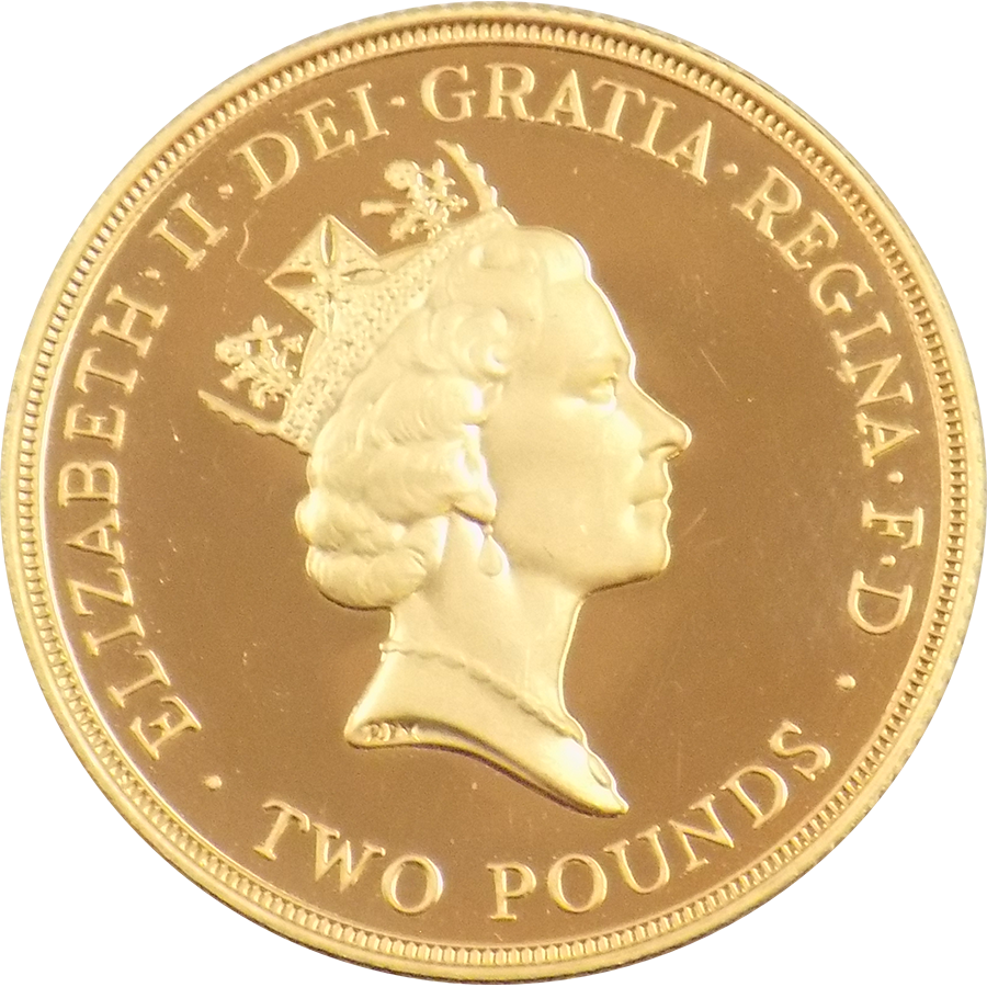 Pre-Owned 1994 UK Proof Design Double Sovereign Gold Coin (Image 2)