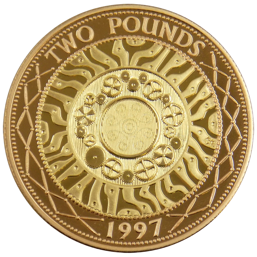Pre-Owned 1997 UK Proof Design Double Sovereign Gold Coin (Image 1)