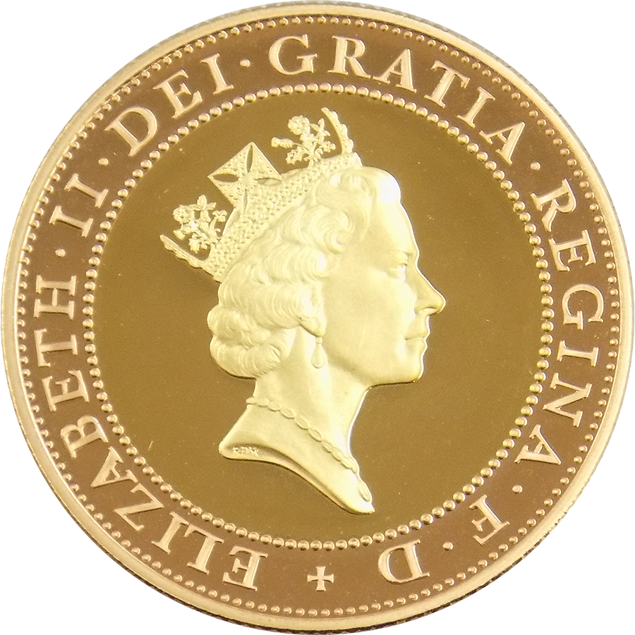 Pre-Owned 1997 UK Proof Design Double Sovereign Gold Coin (Image 2)