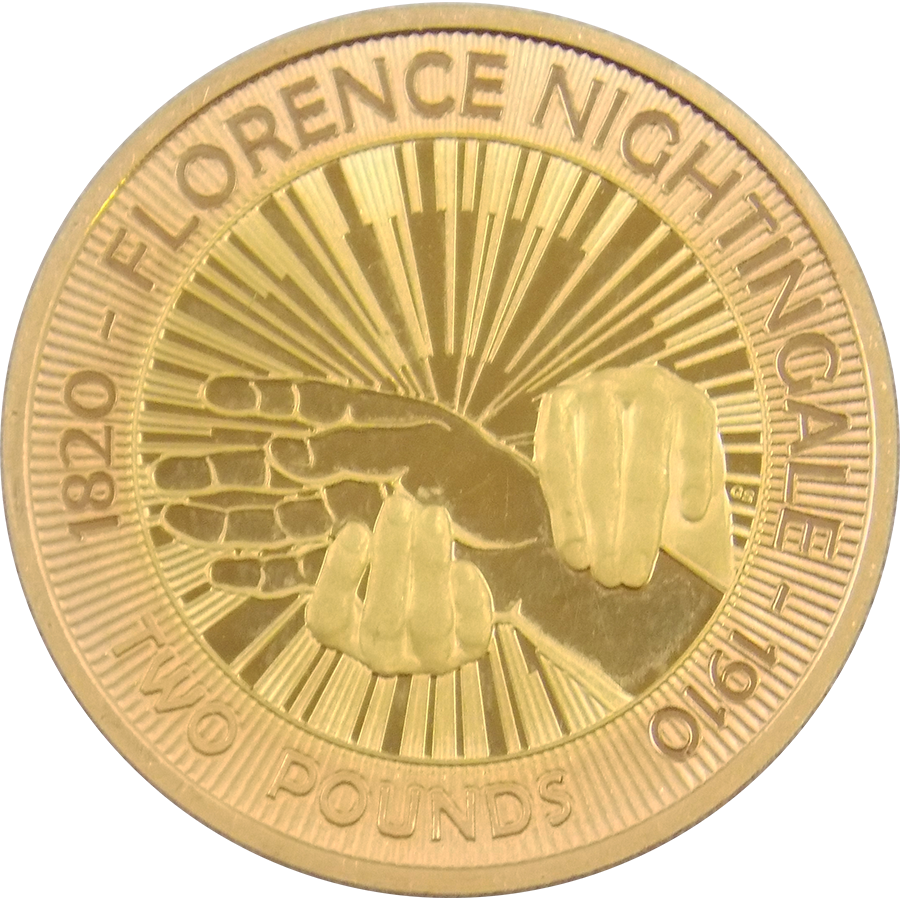 Pre-Owned 2010 UK Florence Nightingale Proof Design Double Sovereign Gold Coin