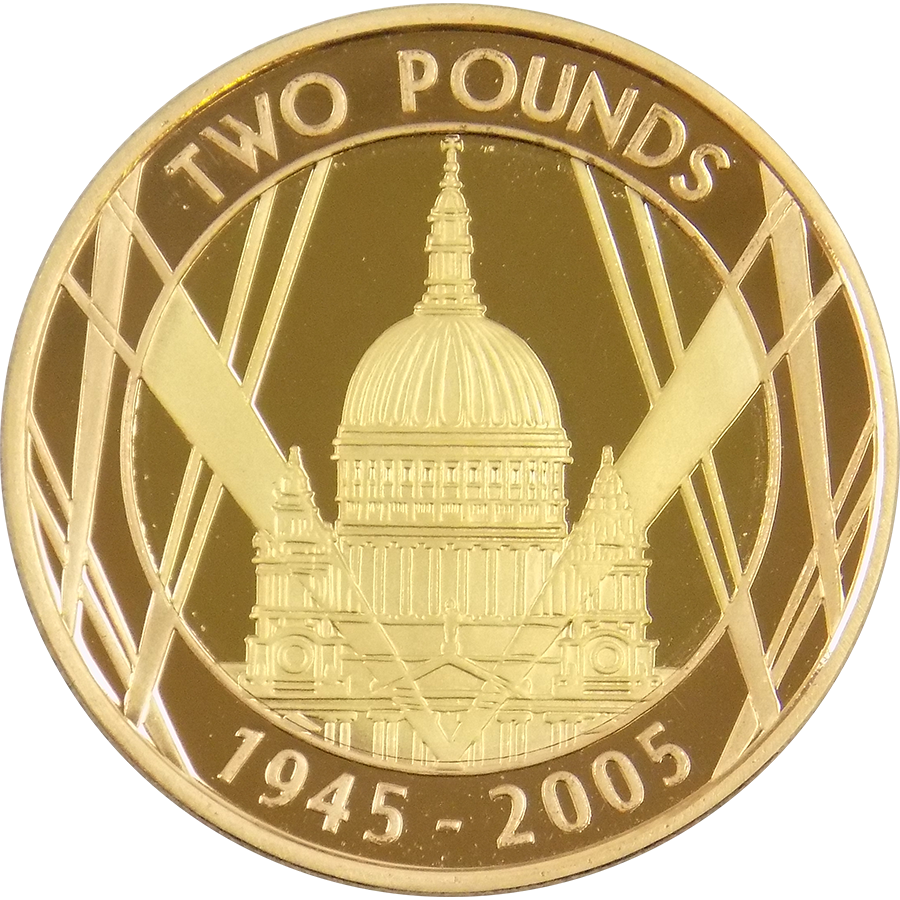 Pre-Owned 2005 UK Proof Design Double Sovereign Gold Coin