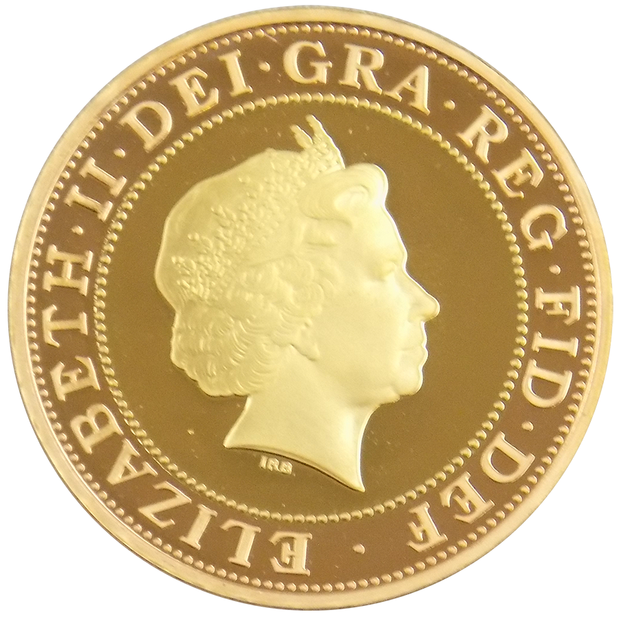 Pre-Owned 1999 UK Rugby World Cup Proof Design Double Sovereign Gold Coin (Image 2)