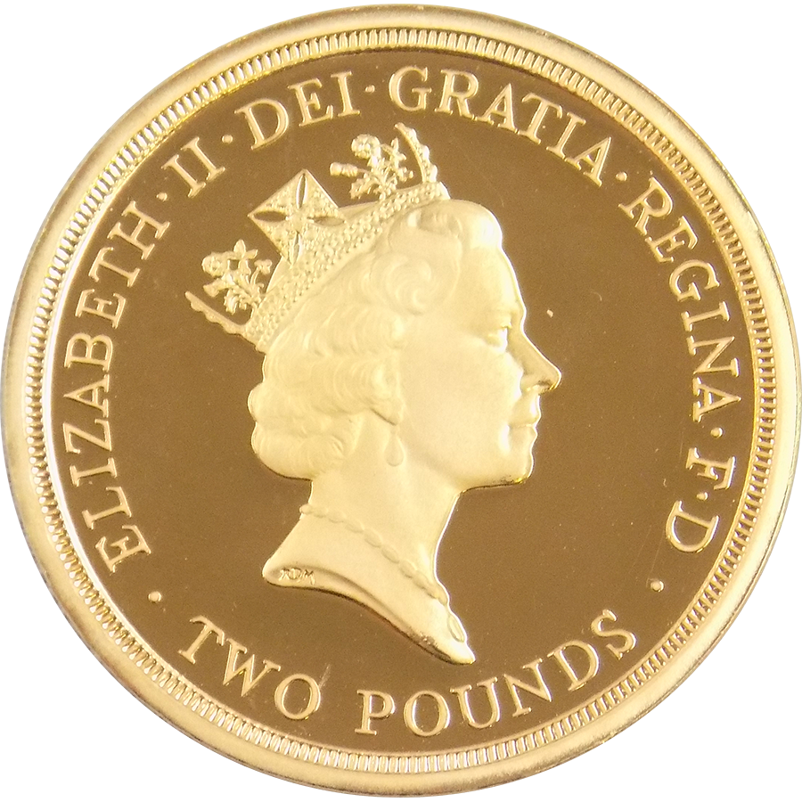 Pre-Owned 1995 UK Proof Design Dove Double Sovereign Gold Coin (Image 2)