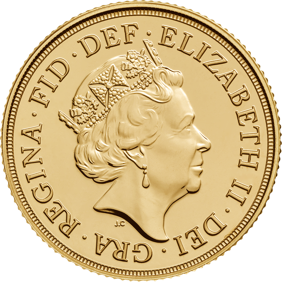 2017 UK Half Sovereign Gold Coin (Image 2)