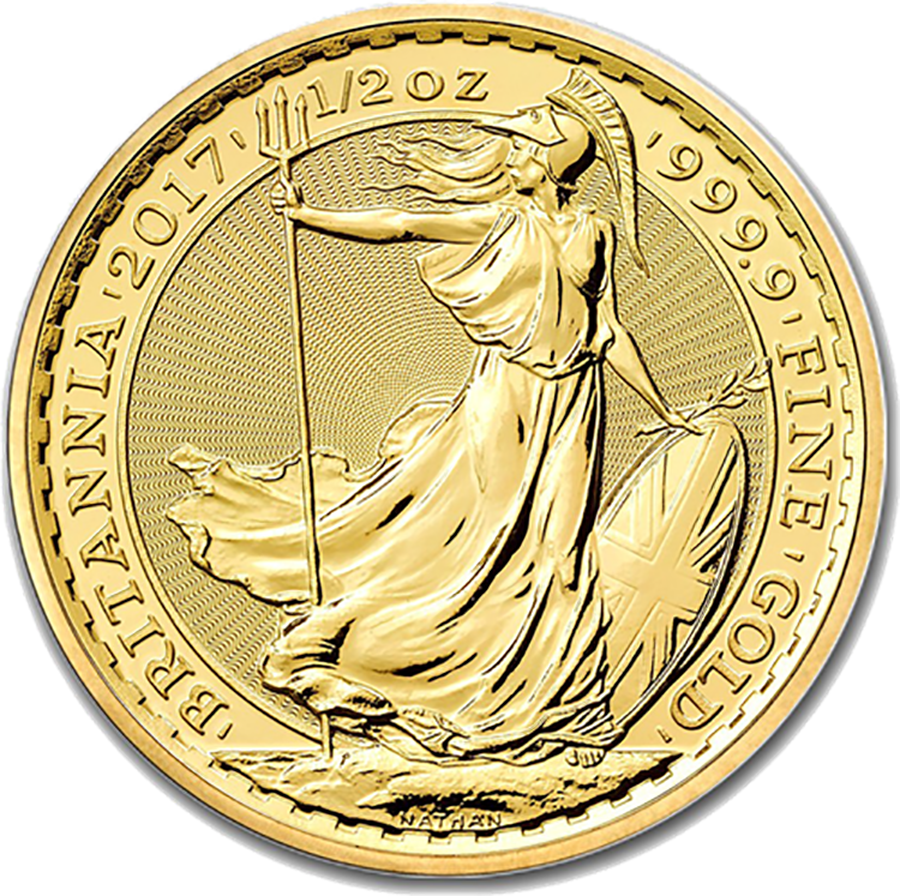 2017 UK Britannia 1/2oz Gold Coin