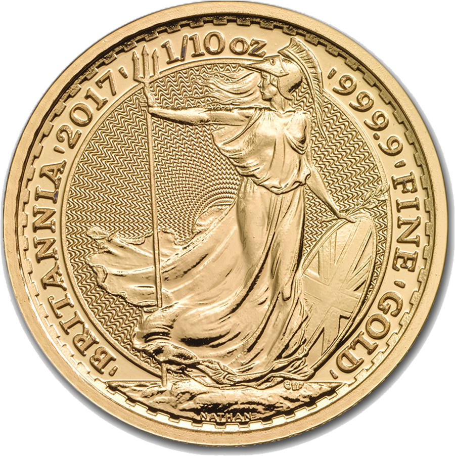 2017 UK Britannia 1/10oz Gold Coin