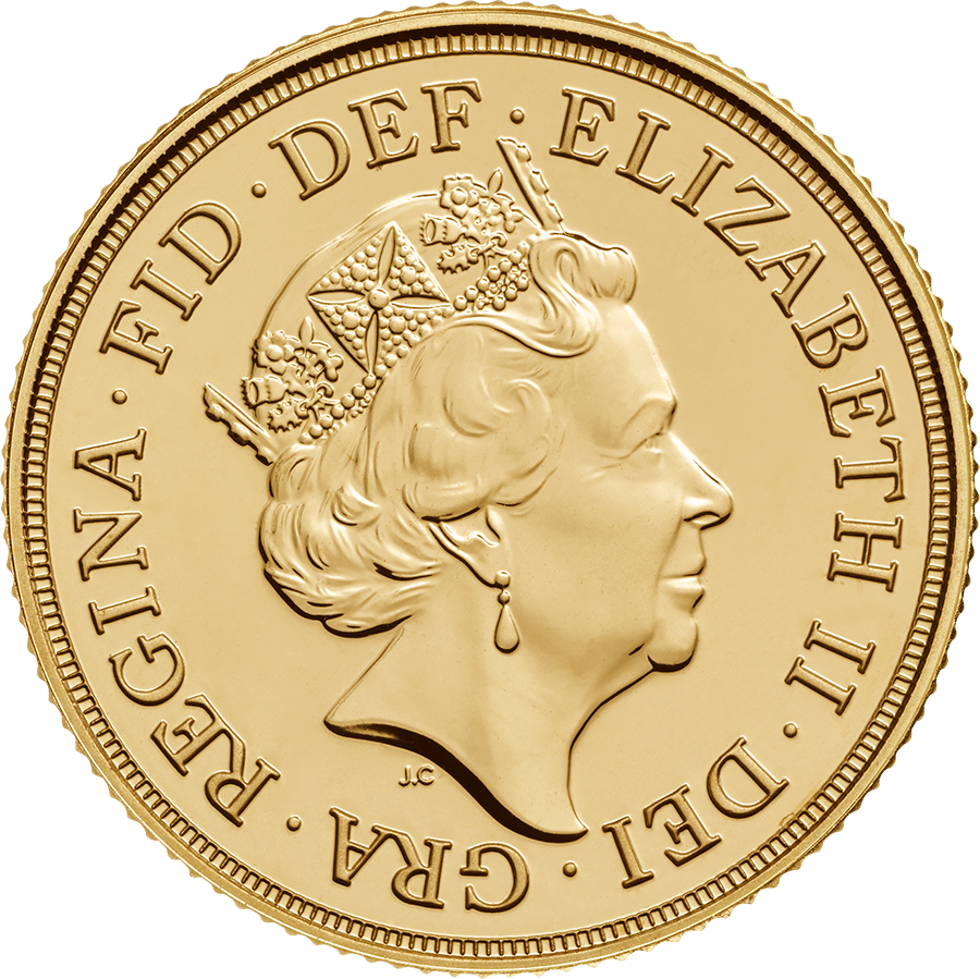 Pre-Owned 2017 UK Full Sovereign Gold Coin (Image 2)