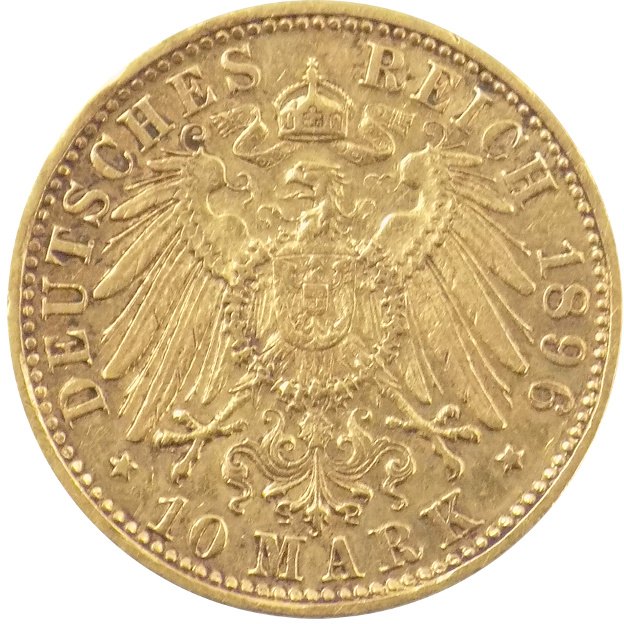 Pre-Owned German 10 Mark Gold Coin - Mixed Dates