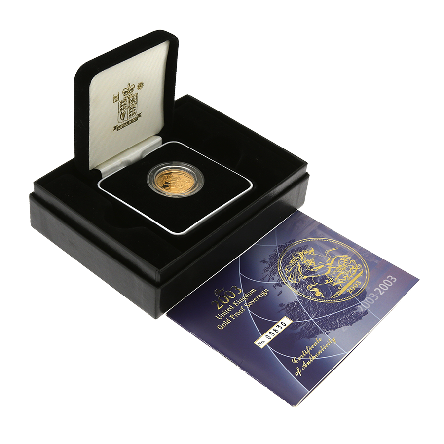 Pre-Owned 2003 UK Full Sovereign Gold Proof Coin