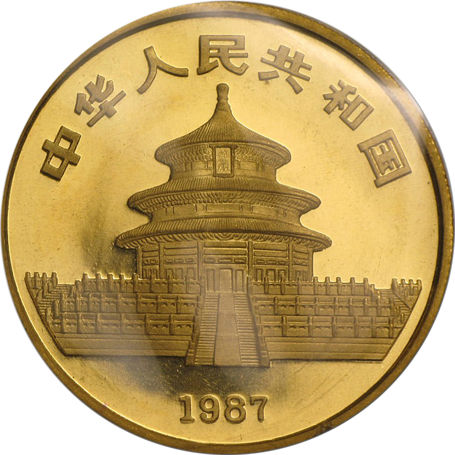 1987 Chinese Panda 1oz Gold Coin Free Insured Delivery