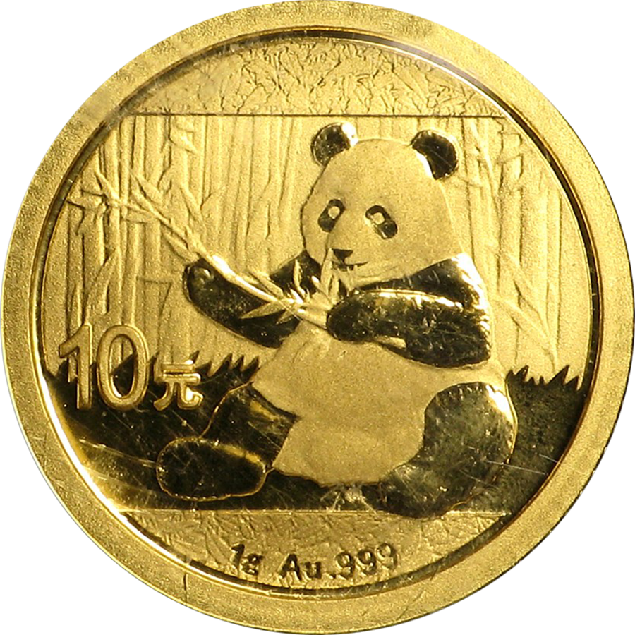 2017 Chinese Panda 1g Gold Coin