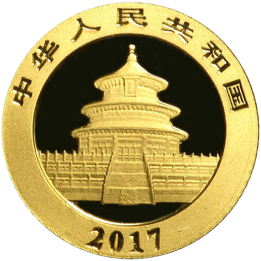 2017 Chinese Panda 1g Gold Coin Atkinsons Bullion