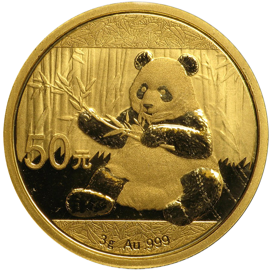 2017 Chinese Panda 3g Gold Coin