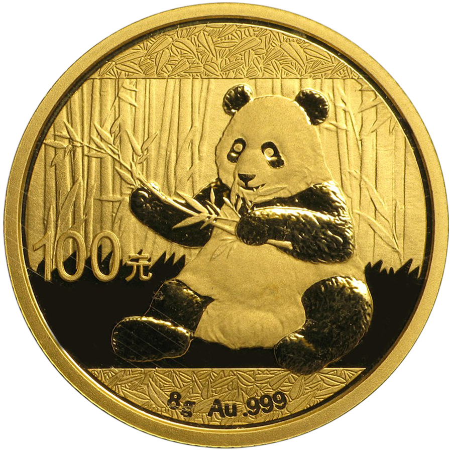 2017 Chinese Panda 8g Gold Coin