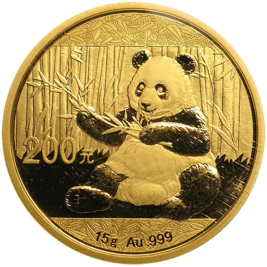2017 Chinese Panda 15g Gold Coin