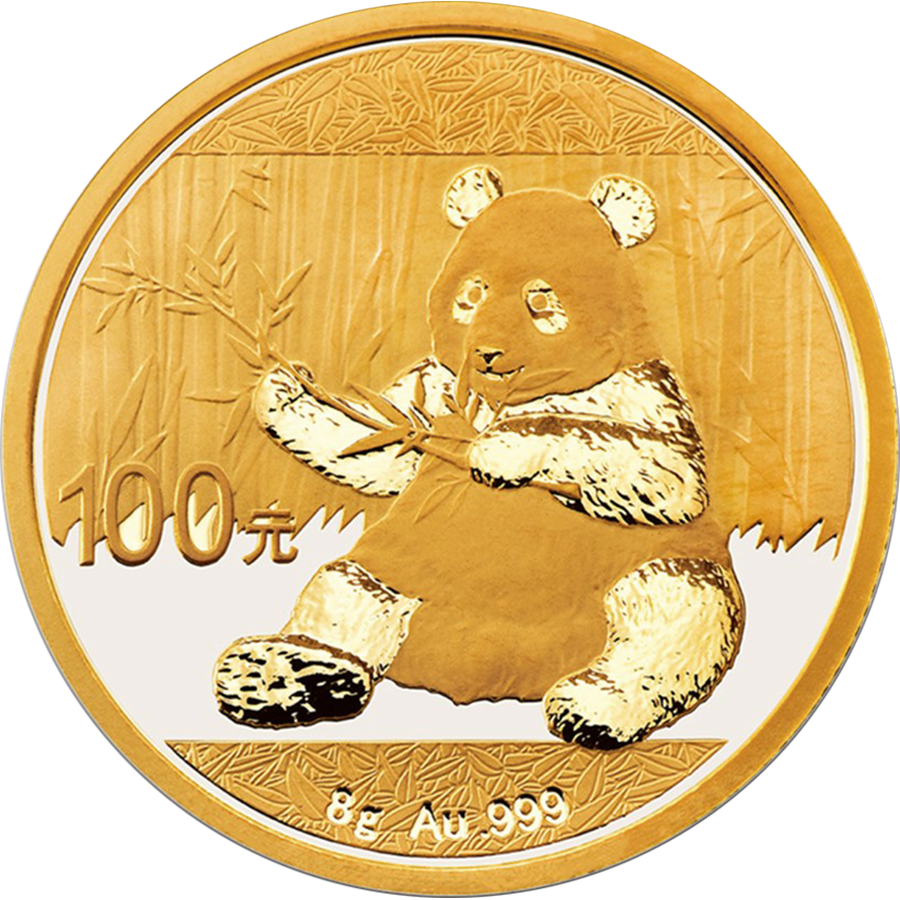 Pre-Owned 2017 Chinese Panda 8g Gold Coin