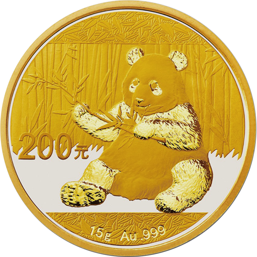Pre-Owned 2017 Chinese Panda 15g Gold Coin