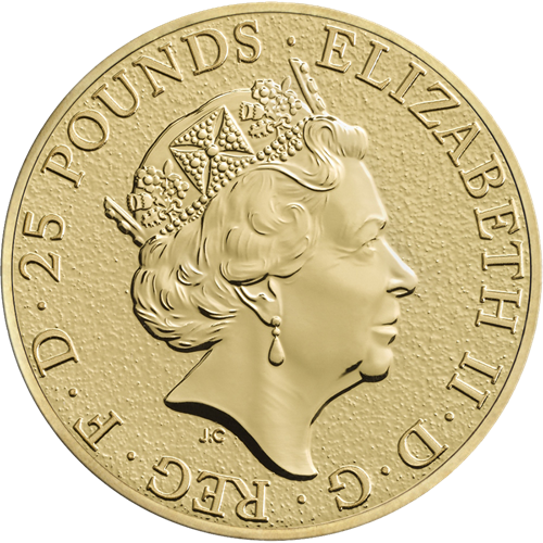 2017 UK Queen's Beasts The Griffin 1/4oz Gold Coin (Image 2)