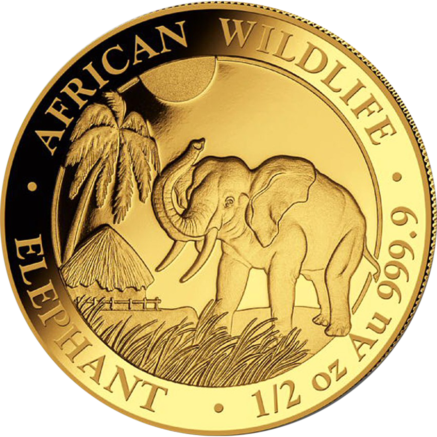 2017 Somalian Elephant 1/2oz Gold Coin