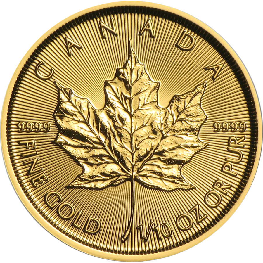 2017 Canadian Maple 1/10oz Gold Coin