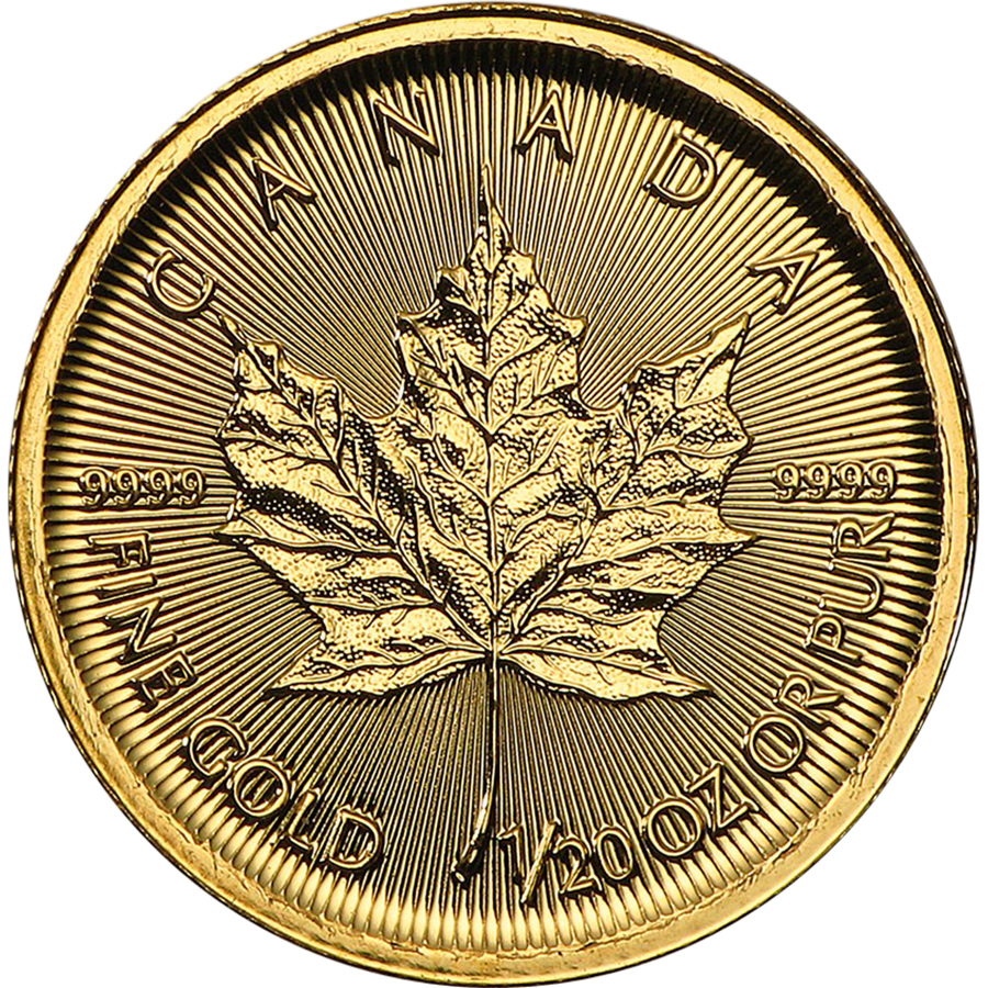 2017 Canadian Maple 1/20oz Gold Coin