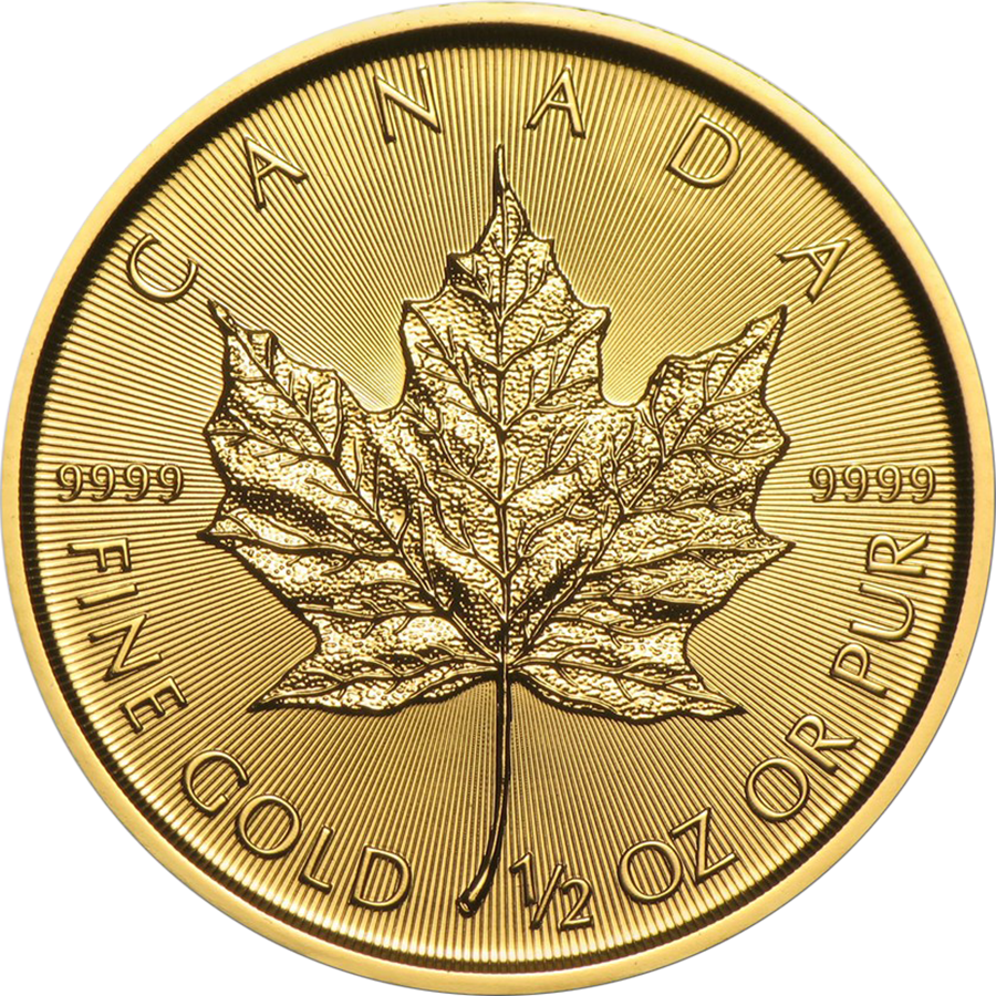 2017 Canadian Maple 1/2oz Gold Coin