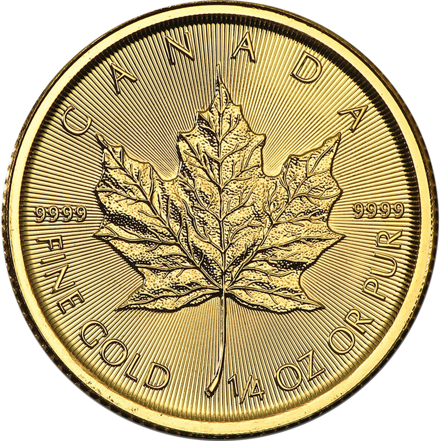 2017 Canadian Maple 1/4oz Gold Coin