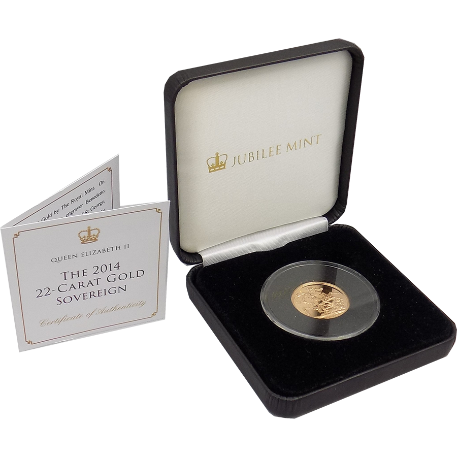 Pre-Owned 2014 UK Full Sovereign Gold Coin - Boxed & Certificated