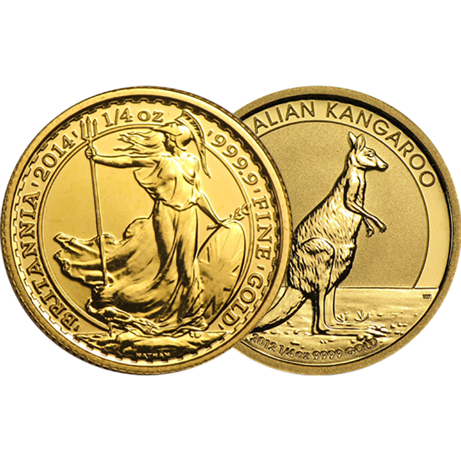1/4oz Gold Coin - Mixed Coins