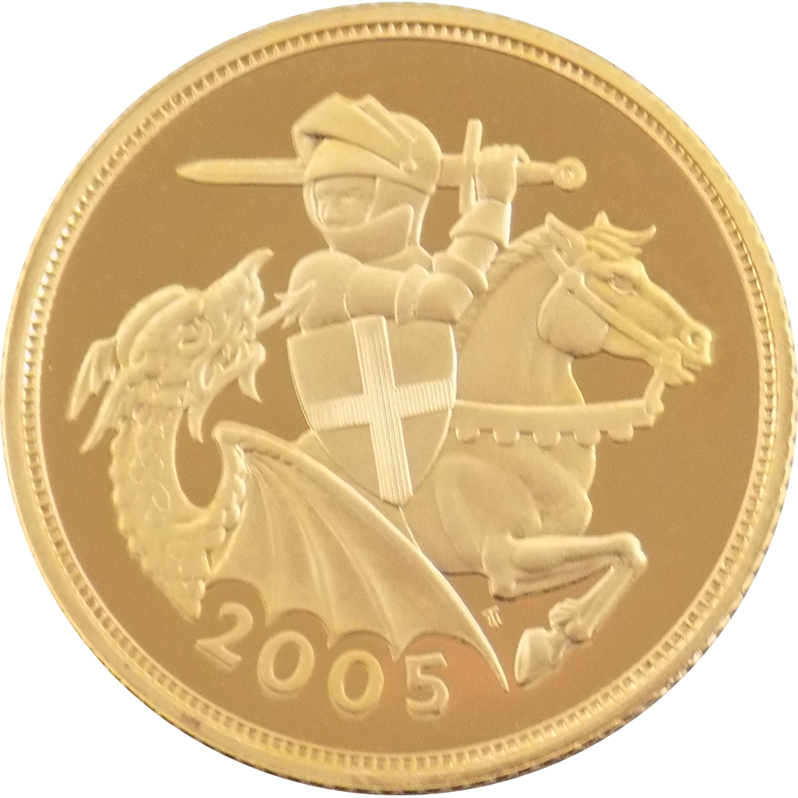 2005 UK Full Sovereign Gold Coin