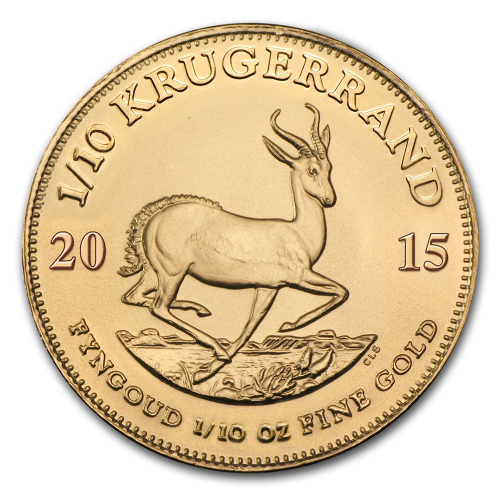 South Africa Krugerrand 1/10oz Gold Coin - Mixed Dates
