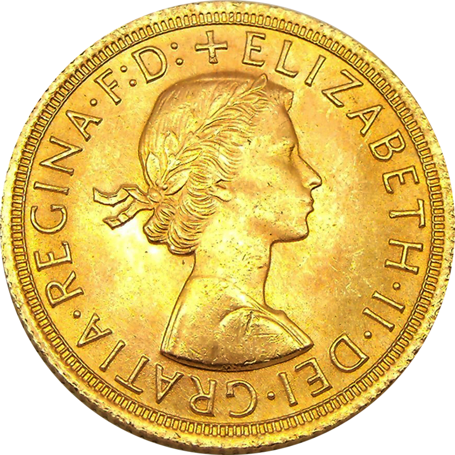 UK Full Gold Sovereign Elizabeth II 1957-1968