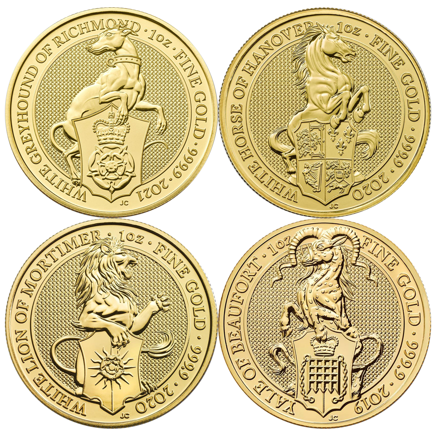 Queen's Beasts 1oz Gold Coin - Mixed Designs